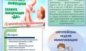 Европейская неделя иммунизации - 2018